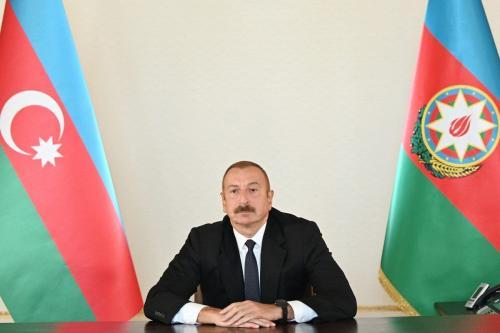 Presidente do Azerbaijão Ilham Aliyev em Baku, Azerbaijão, 27 de setembro de 2020 [Presidência do Azerbaijão / Agência Anadolu]