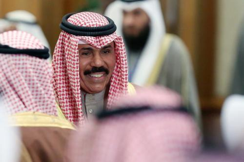 Príncipe herdeiro do Kuwait Sheikh Nawaf Al-Ahmad Al-Jaber Al-Sabah na Cidade do Kuwait, Kuwait em 19 de janeiro de 2014 [YASSER AL-ZAYYAT / AFP / Getty Images]