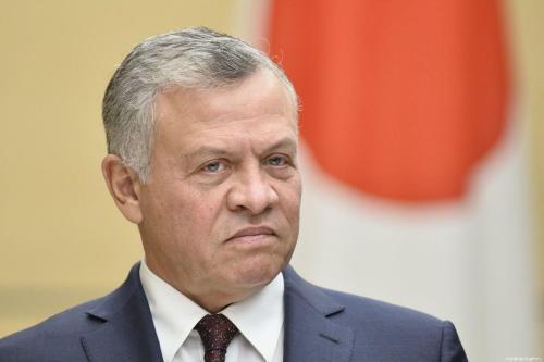Rei Abdullah II da Jordânia, em Tóquio em 27 de novembro de 2018 [David Mareuil/ Agência Anadolu]