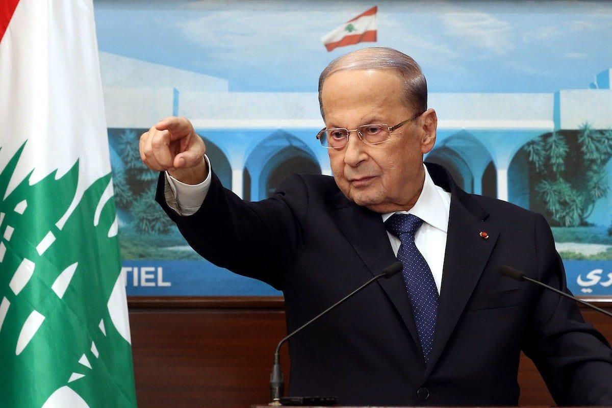 Presidente do Líbano em 20 de setembro de 2020 [Presidência Libanesa / Agência Anadolu]