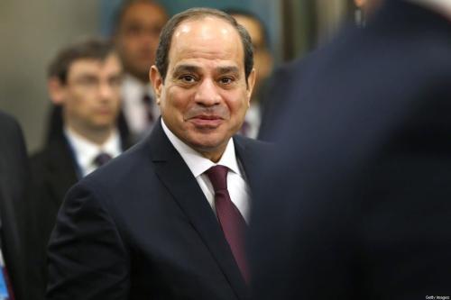 Presidente do Egito Abdel-Fatah el-Sisi em Nova York, Estados Unidos, 24 de setembro de 2019 [Spencer Platt/Getty Images]