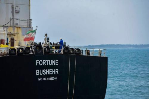 O petroleiro de bandeira iraniana Fortune está atracado na refinaria de El Palito na Venezuela em 25 de maio de 2020 [AFP / Getty Imagens]