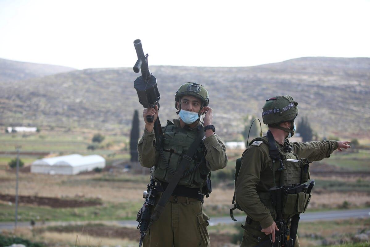 Exército de Israel em Ramallah, Cisjordânia, em 27 de novembro de 2020 [Issam Rimawi/Agência Anadolu]