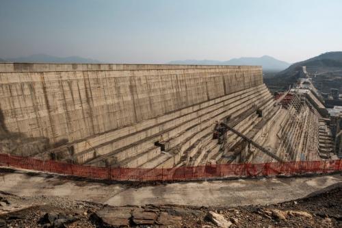 Visão geral da Grande Barragem da Renascença Etíope na Etiópia, em dezembro de 2019 [Eduardo Soteras/ AFP/ Getty Images]