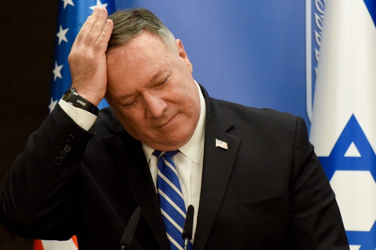 Secretário de Estado dos Estados Unidos Mike Pompeo em 24 agosto de 2020 [Debbie Hill/AFP/Getty Images]