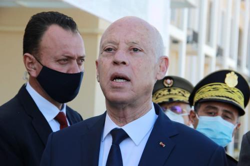Presidente da Tunísia Kais Saied em Sfax, Tunísia, 10 de dezembro de 2020 [Houssem Zouari/Agência Anadolu]