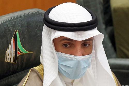 O porta-voz do parlamento kuwaitiano Marzouq al-Ghanim participa de uma sessão parlamentar na assembleia nacional em Kuwait City em 1 de setembro de 2020 [Yasser Al-Zayyat/ AFP via Getty Images]