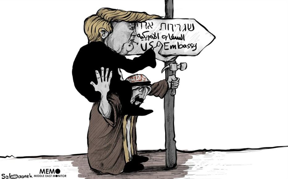 Trump transfere embaixada americana a Jerusalém [Sabaaneh/Monitor do Oriente Médio]