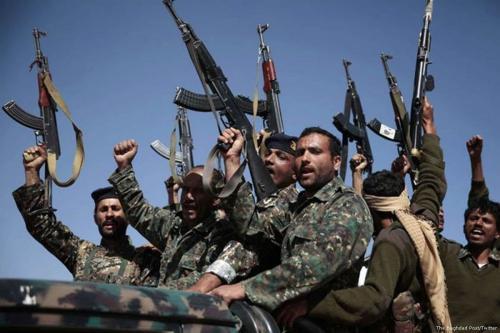 Lutadores Houthi no Iêmen, 2 de outubro de 2017. [The Baghdad Post/Twitter]
