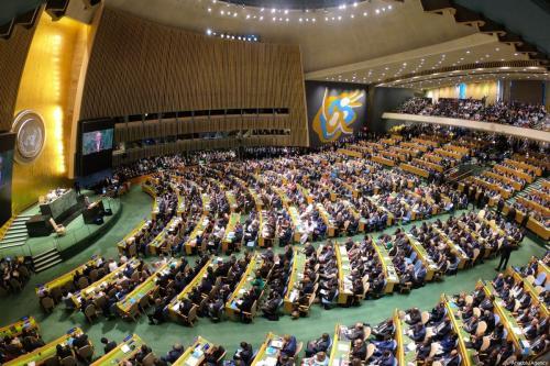 74ª sessão da Assembleia Geral da ONU, em Nova Iorque, Estados Unidos, 24 de setembro de 2019 [Erçin Top / Agência Anadolu]
