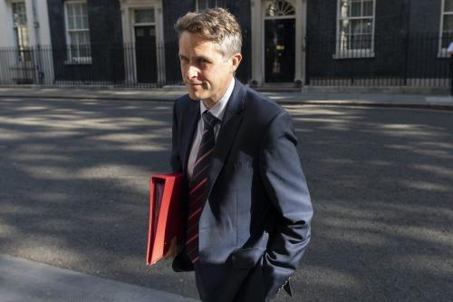 Secretário de Estado da Educação Gavin Williamson em Londres, Reino Unido em 21 de julho de 2020 [Ray Tang / Agência Anadolu]