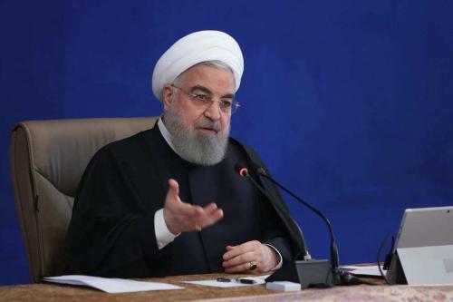O presidente iraniano Hassan Rouhani fala durante a reunião do Conselho de Ministros em Teerã, Irã, em 2 de dezembro de 2020. [Presidência iraniana - Agência Anadolu]