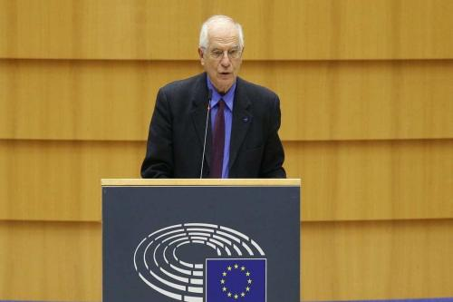 O Alto Representante da UE para os Negócios Estrangeiros e a Política de Segurança, Joseph Borrell, em Bruxelas, Bélgica, em 15 de dezembro de 2020. [Dursun Aydemir/Agência Anadolu]