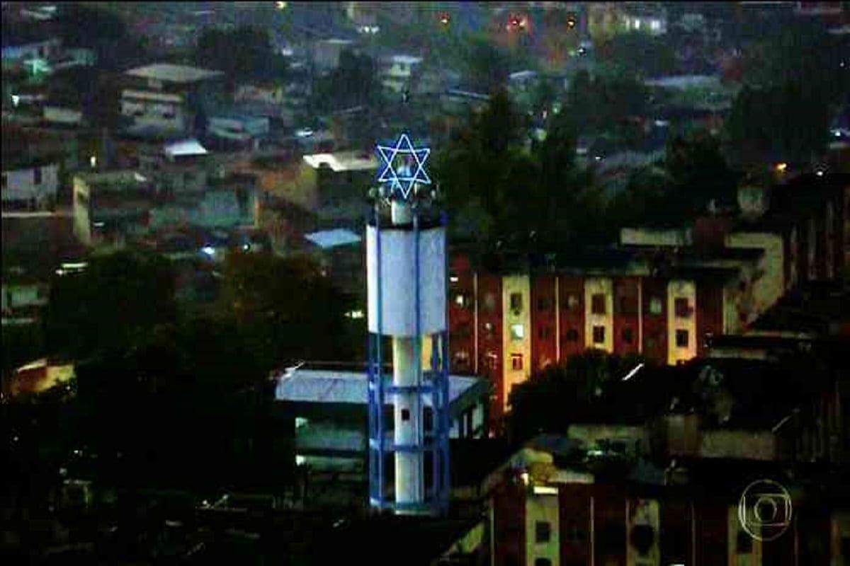 símbolo do complexo de Israel [Foto reprodução Rede Globo]