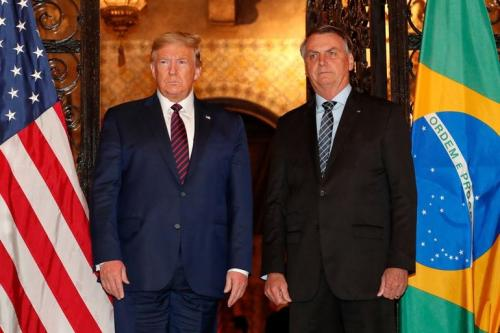 Donald Trump e Jair Bolsonaro [Foto Alan Santos/ PR]