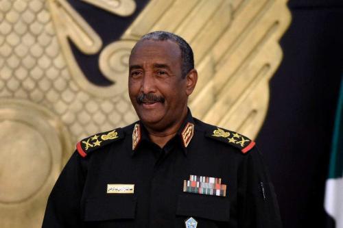 Chefe do Conselho Soberano do Sudão, general Abdel Fatah Al-Burhan, em Cartum, Sudão, em 15 de setembro de 2020. [Mazen Mahdi/AFP/Getty Images]