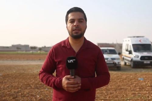 Jornalista sírio Bahaa Al-Halabi [Screengrab / TV Síria]