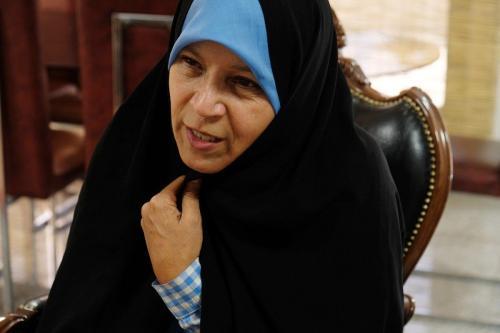 Faezeh Hashemi Rafsanjani, filha do falecido presidente iraniano Akbar Hashemi Rafsanjami, em Teerã, Irã, 18 de junho de 2018 [Kaveh Kazemi/Getty Images]
