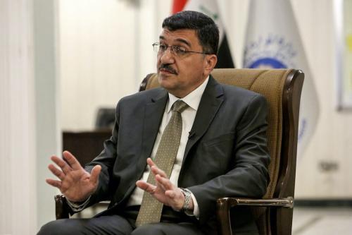 Mehdi Rashid al-Hamdani, Ministro de Recursos Hídricos do Iraque em Bagdá em 19 de agosto de 2020 [Sabah Arar/ AFP / Getty Images]