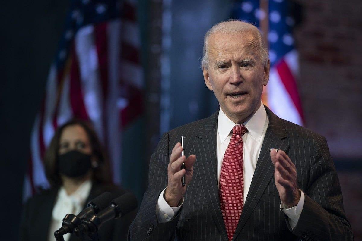 O presidente dos EUA, Joe Biden, em Wilmington, Delaware, em 19 de novembro de 2020. [Jim Watson/AFP via Getty Images]
