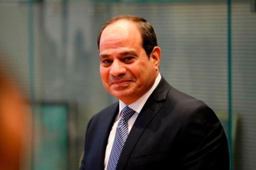 O presidente egípcio, Abdel Fattah Al-Sisi, em Berlim, Alemanha, em 18 de novembro de 2019. [ODD Andersen/AFP/Getty Images]