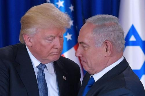 Presidente dos Estados Unidos Donald Trump (à esquerda) e primeiro-ministro israelense Benjamin Netanyahu [Foto de Arquivo]