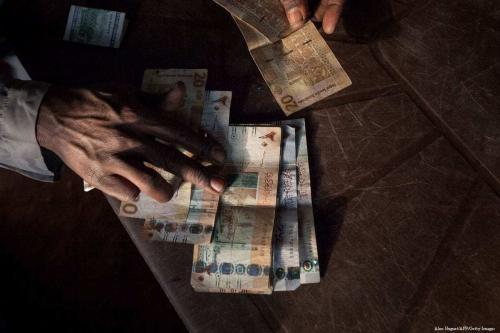 Libra sudanesa, em 20 de dezembro de 2017 [Alex Huguet/AFP/Getty Images]