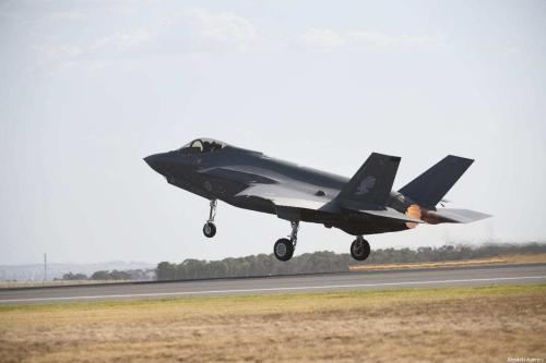 Jato de combate F-35 Lightning, em 01 de março de 2019. [Recep Şakar/Anadolu Agência]