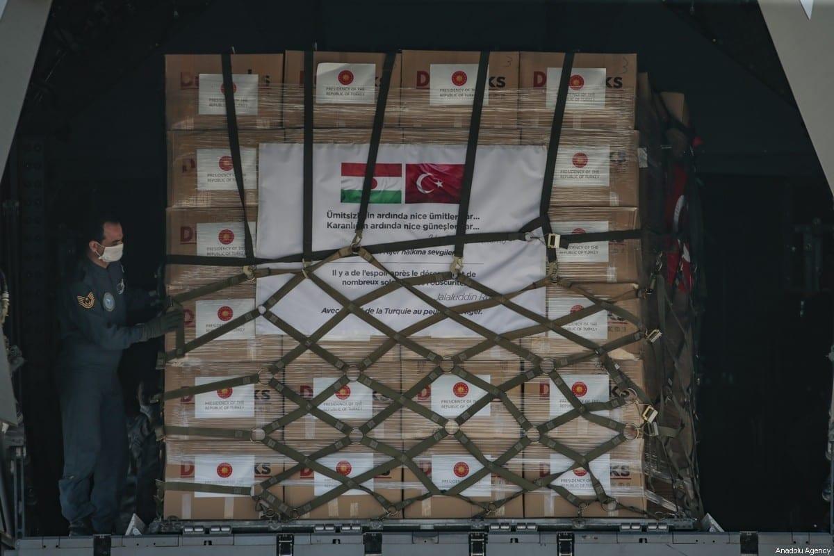 Equipamentos médicos que a Turquia se preparou para enviar à Somália em 04 de junho de 2020 [Metin Aktaş / Agência Anadolu]