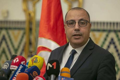 Primeiro-Ministro da Tunísia Hisham El-Mechichi em Túnis, 10 de agosto de 2020 [Yassine Gaidi/Agência Anadolu]