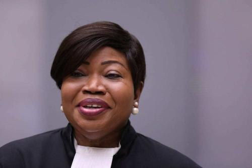 Procuradora do Tribunal Penal Internacional Fatou Bensouda no Tribunal Penal Internacional (ICC) em Haia, Holanda, em 8 de julho de 2019 [Eva Plevier/ ANP / AFP via Getty Images]