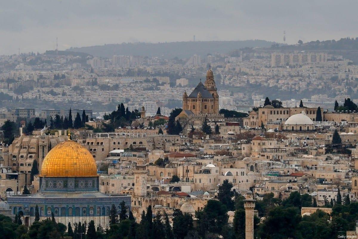 O Domo da Rocha no complexo da Mesquita de Al-Aqsa em Jerusalém, 15 de janeiro de 2021 [AHMAD GHARABLI / AFP / Getty Images]
