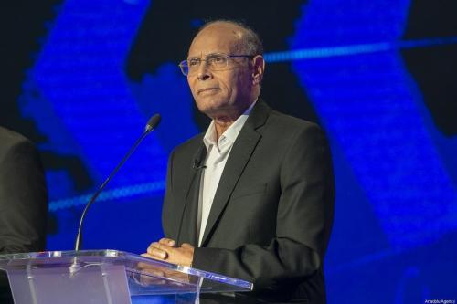 Ex-Presidente da Tunísia Moncef Marzouki em 7 de setembro de 2019 [Yassine Gaidi/Agência Anadolu]