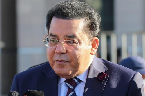Figura proeminente da oposição egípcia baseada em Istambul, Ayman Nour, em 24 de novembro de 2020. [Esra Bilgin/Agência Anadolu]
