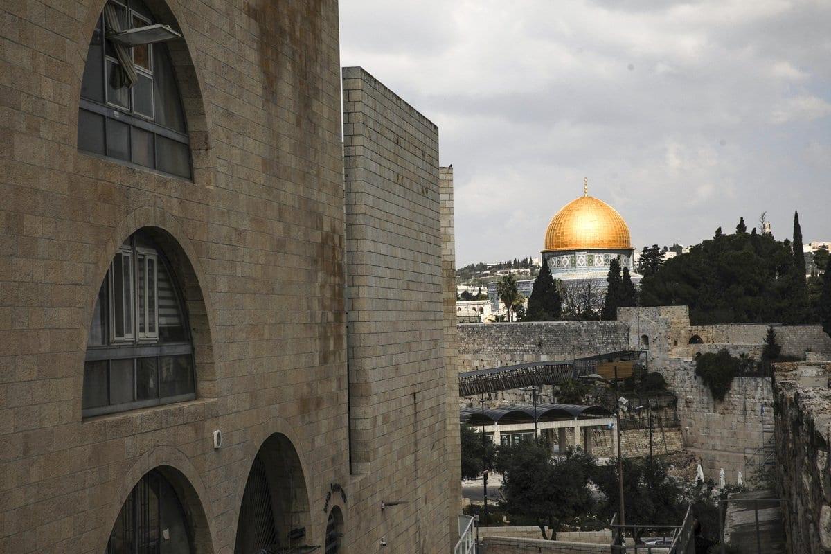 Masjid Al-Aqsa em Jerusalém em 24 de fevereiro de 2021 [Agência Mostafa Alkharouf / Anadolu]
