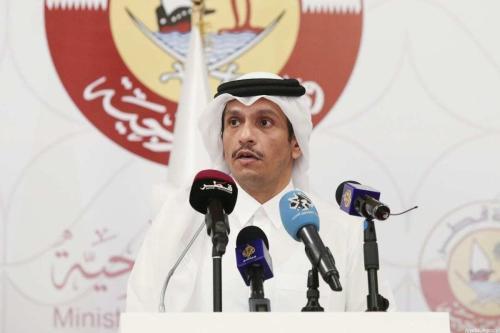 Ministro das Relações Exteriores do Catar, Mohammed bin Abdulrahman Al-Thani, em Doha, Catar, em 11 de março de 2021. [Cem Özdel/Anadolu Agency]