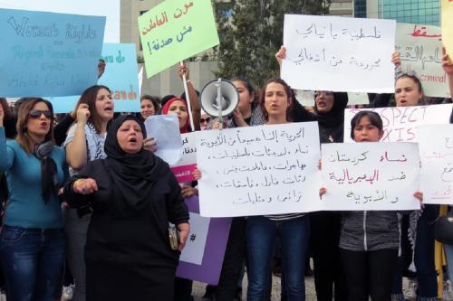 """Marcha """"Causas Diferentes, Raiva Compartilhada"""" no Dia Internacional da Mulher de 2018, no Líbano [Joelle Hatem]"""