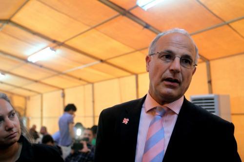 Michael Aron, embaixador britânico no Iêmen, em 24 de maio de 2012 [Ali Al-Saadi/AFP/Getty Images]