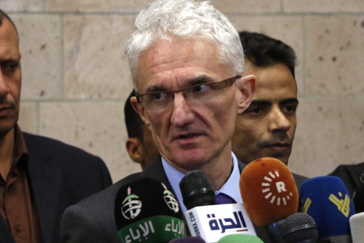 Mark Lowcock, subsecretário da ONU para assuntos humanitários e coordenador de assistência emergencial, em Sanaa, capital do Iêmen, 28 de novembro de 2018 [Mohammed Hamoud/Getty Images]