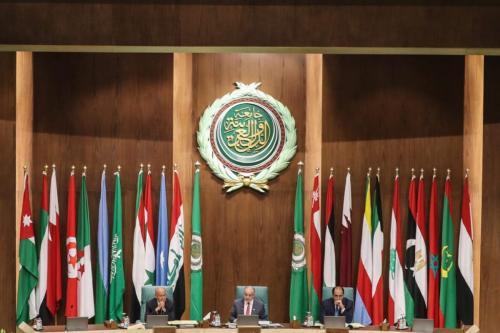 153ª reunião anual dos ministros das Relações Exteriores árabes na sede da Liga Árabe na capital egípcia, Cairo, em 4 de março de 2020. [Mohamed El-Shahed/AFP via Getty Images]