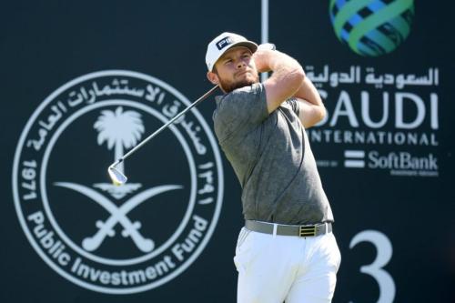 Campeonato de golfe Saudi International, patrocinado pelo Softbank Investimentos, na Cidade Econômica Rei Abdullah, Arábia Saudita, em 6 de fevereiro de 2021 [Ross Kinnaird/Getty Images]