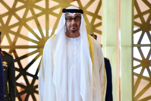 Príncipe Herdeiro Sheikh Mohammed Bin Zayed em Abu Dhabi, Emirados Árabes Unidos, em 1 de dezembro de 2016 [Gabinete do Presidente Egípcio / ApaImages]