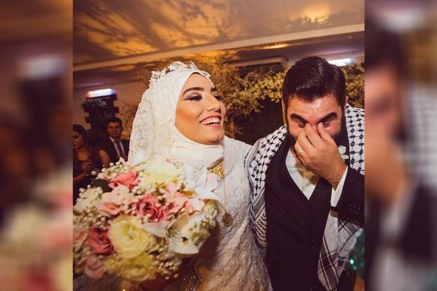 Festa de casamento de Mariam Chami com o brasileiro-palestino Mahmmud Mashni [Foto reprodução Instagram]