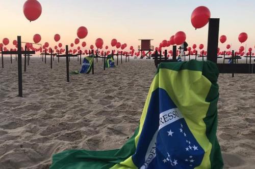 Protesto pelas mortes na pandemia [ONG Rio de Paz]