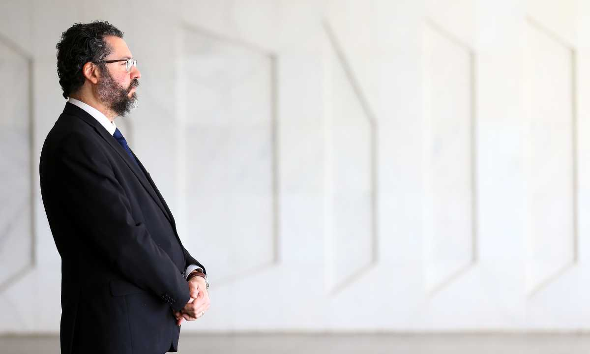Ministro das Relações Exteriores, Ernesto Araújo. [Marcelo Camargo/Agência Brasil]