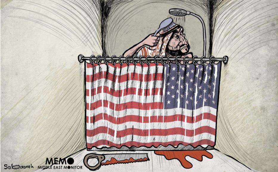 Dois anos após o assassinato de Jamal Khashoggi, MBS não tem nada com que se preocupar. [Sabaaneh/Monitor do Oriente Médio]