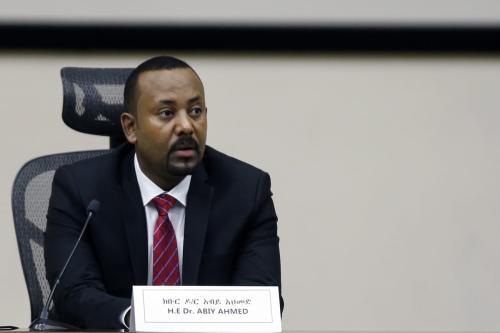 Primeiro Ministro da Etiópia, Abiy Ahmed, em Adis Abeba, Etiópia em 30 de novembro de 2020 [Minasse Wondimu Hailu/Anadolu Agency]