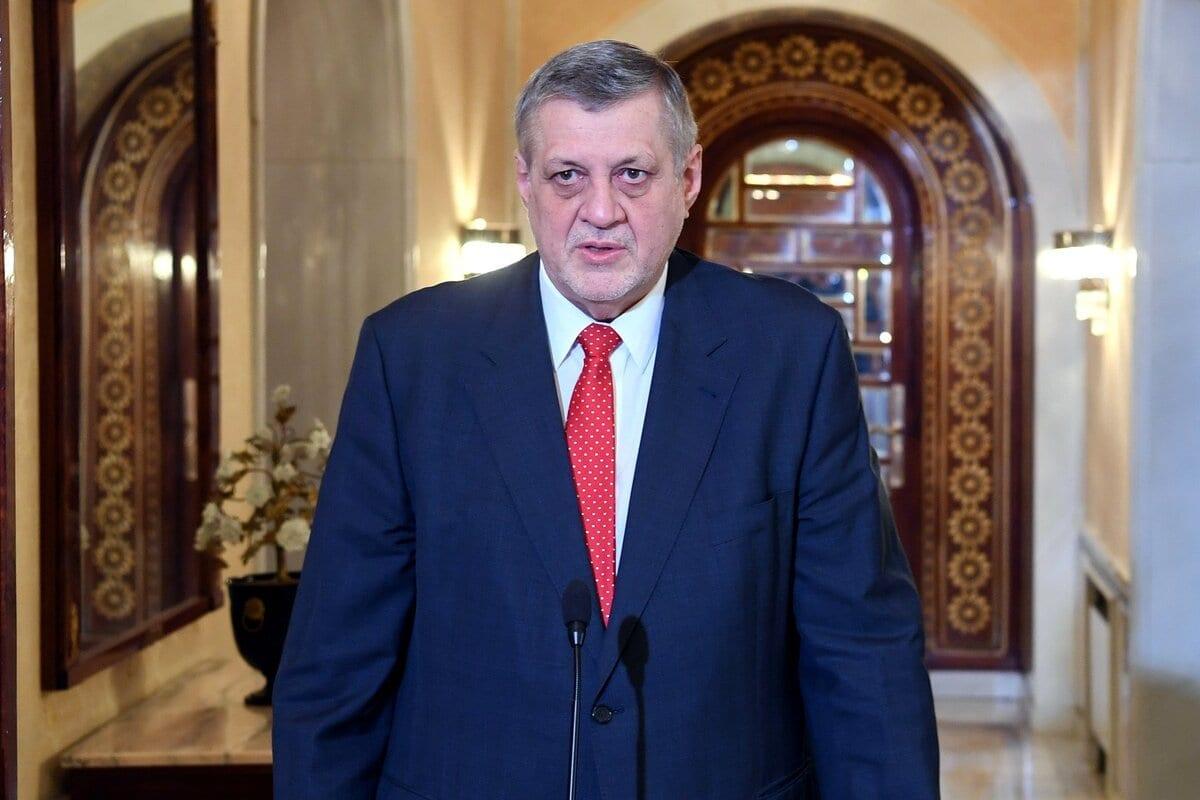 Jan Kubis, enviado especial do secretário-geral da ONU para a Líbia, em Túnis, Tunísia, 15 de fevereiro de 2021 [Presidência da Tunísia/Agência Anadolu]