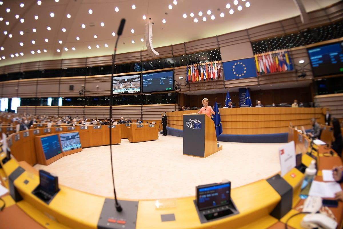 Parlamento Europeu, em Bruxelas, Bélgica, em 16 de setembro de 2020 [CC-BY-4.0: © União Europeia 2020 / EP]
