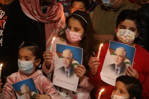 Palestinos demonstram solidariedade ao ex-líder do Hamas Mohammad al-Khodari, detido na Arábia Saudita [Monitor do Oriente Médio]